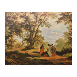 THE ROAD TO EMMAUS, WOOD PRINT