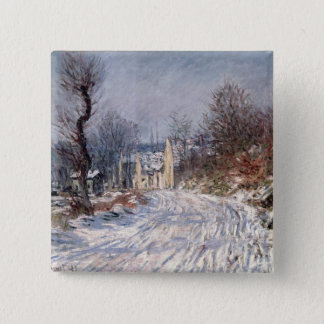 The Road to Giverny, Winter, 1885 2 Inch Square Button
