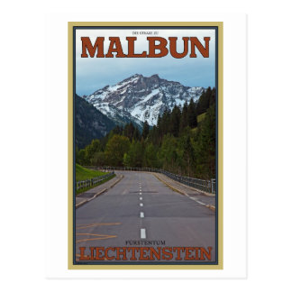 The Road to Malbun Postcard