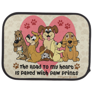The Road To My Heart Dogs Car Mat