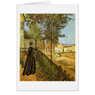 The Road To Versailles By Camille Pissarro Card