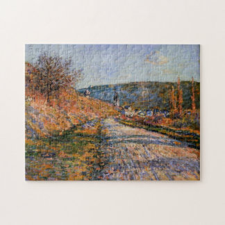 The Road to Vetheuil Monet Fine Art Jigsaw Puzzle