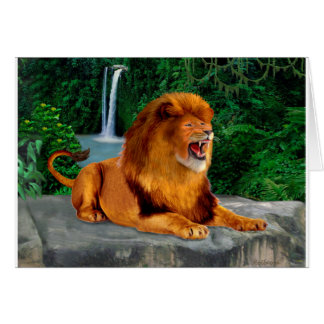 The Roaring Lion King Card