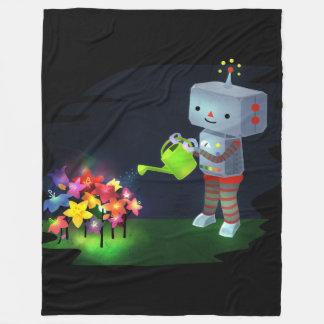 The Robot's Garden Fleece Blanket