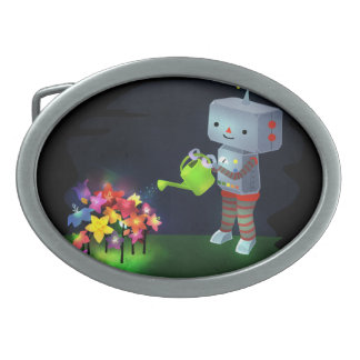 The Robot's Garden Oval Belt Buckle