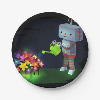 The Robot's Garden Paper Plate