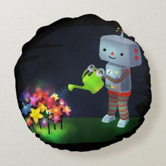 The Robot's Garden Round Pillow