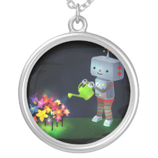 The Robot's Garden Silver Plated Necklace