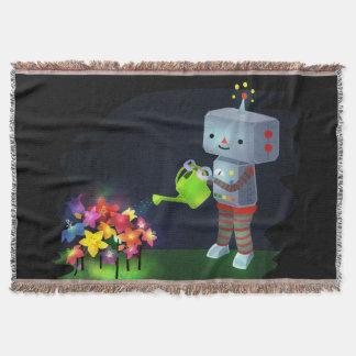 The Robot's Garden Throw Blanket