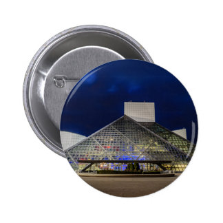 The Rock and Roll Hall of Fame at Dusk 2 Inch Round Button