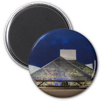 The Rock and Roll Hall of Fame at Dusk 2 Inch Round Magnet