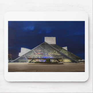 The Rock and Roll Hall of Fame at Dusk Mouse Pad
