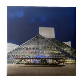 The Rock and Roll Hall of Fame at Dusk Tile