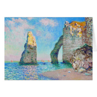 The Rock Needle and the Porte d'Aval Claude Monet Card