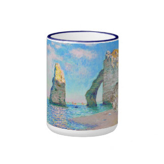 The Rock Needle and the Porte d'Aval Claude Monet Ringer Coffee Mug