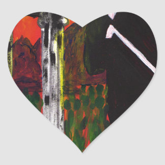 The Rock Singer Heart Sticker