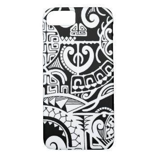 The Rock Tribal tattoo case with Poly patterns