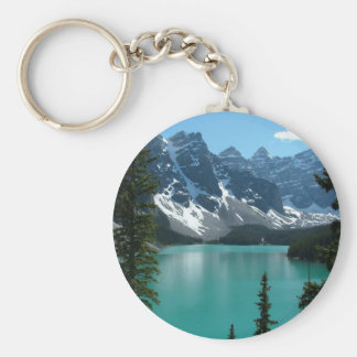 The Rockies - Moraine Lake Basic Round Button Keychain