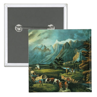 The Rocky Mountains 2 Inch Square Button