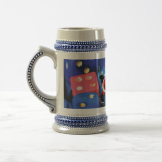 The roll of a dice 18 oz beer stein