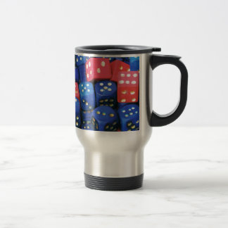 The roll of a dice coffee mugs