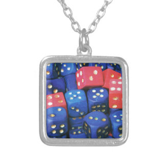 The roll of a dice pendants