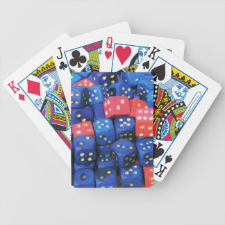 The roll of a dice playing cards