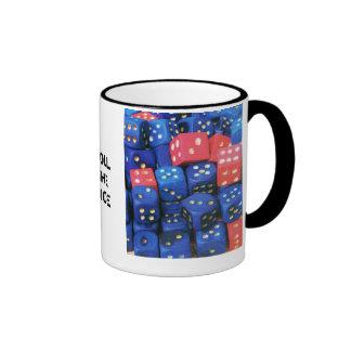 The roll of a dice ringer mug