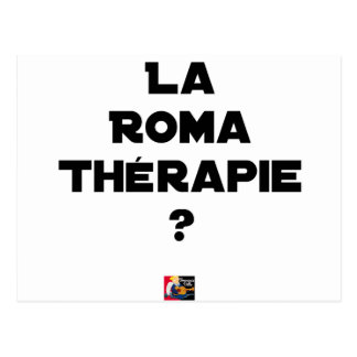 THE ROMA THERAPY? - Word games - François City Postcard