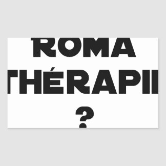 THE ROMA THERAPY? - Word games - François City Sticker