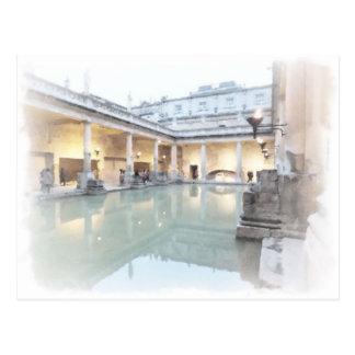 The Roman Baths, Bath Postcard