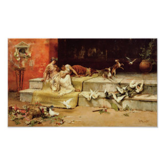 The Roman Maidens by Juan Luna. Poster