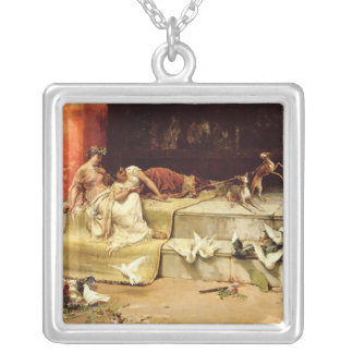 The Roman Maidens by Juan Luna. Silver Plated Necklace