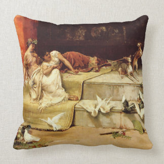 The Roman Maidens by Juan Luna. Throw Pillow