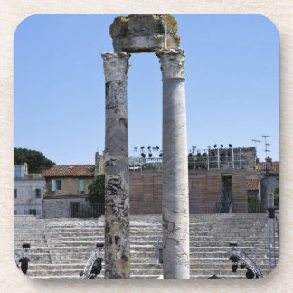 The Roman theater in Arles, France Drink Coaster