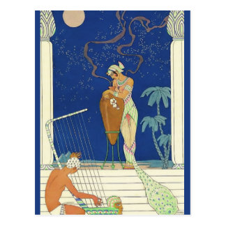 The Romance of Perfume Egypt by George Barbier Postcard