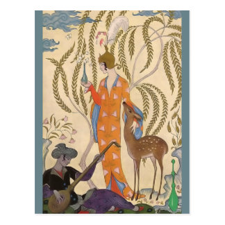 The Romance of Perfume Persia by George Barbier Postcard
