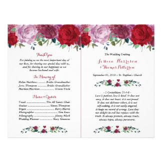 The Romantic Floral Wedding Collection Flyer