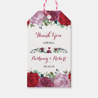 The Romantic Floral Wedding Collection Gift Tags