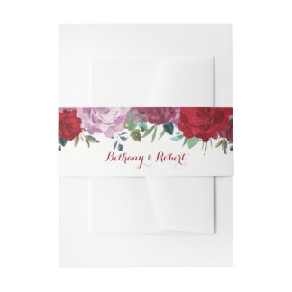 The Romantic Floral Wedding Collection Invitation Belly Band