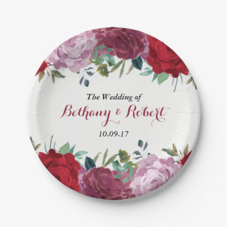 The Romantic Floral Wedding Collection Paper Plate