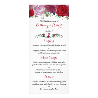 The Romantic Floral Wedding Collection Rack Card