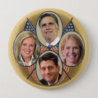 The Romney Ryan Team 4 Inch Round Button