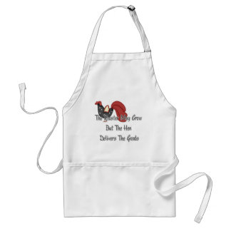 The Rooster May Crow Apron