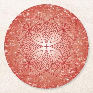 The Root Chakra Round Paper Coaster