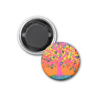 The Root Of Knowledge - Tree Of Life 1 Inch Round Magnet