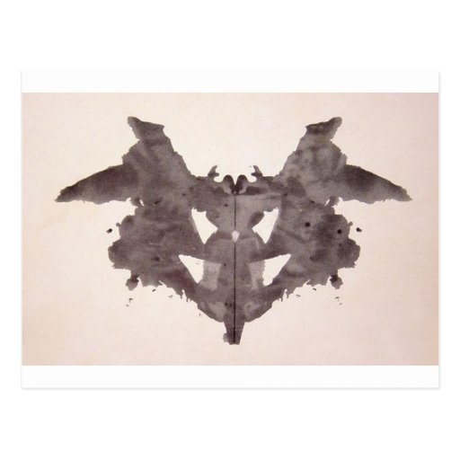 The Rorschach Test Ink Blots Plate 1 Bat, Moth Post Card