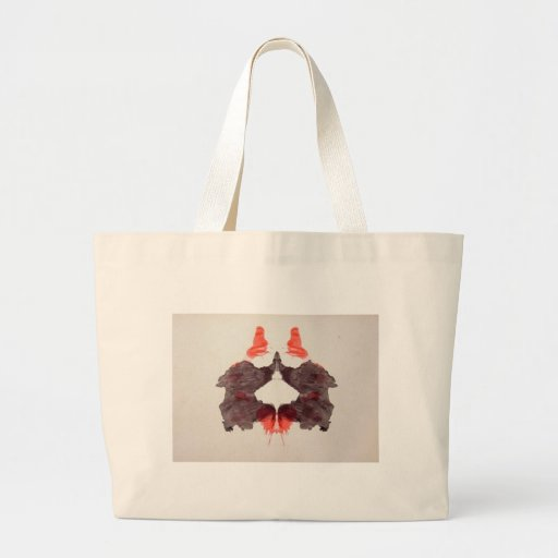 The Rorschach Test Ink Blots Plate 2 Two Humans Jumbo Tote Bag