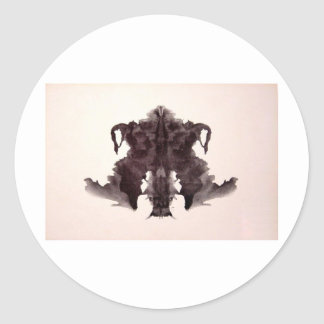 The Rorschach Test Ink Blots Plate 4 Animal Skin Round Sticker