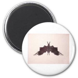 The Rorschach Test Ink Blots Plate 5 Bat Moth 2 Inch Round Magnet